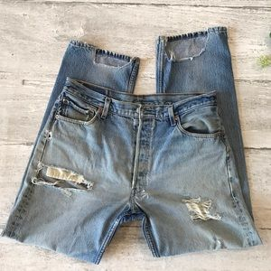 Levi's 501 XX Jeans 36/32 Thrashed Distressed